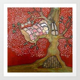 Goodnight Tree Art Print