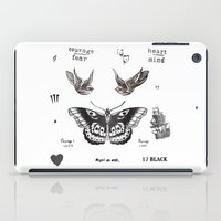 harry iPad Cases featuring Tattoo à la Harry by Kate & Co.
