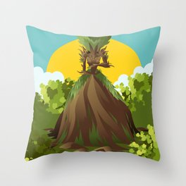 earth nature creature elemental Throw Pillow