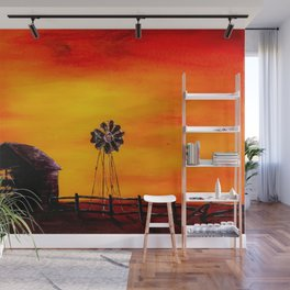 Sunset on the Homestead Wall Mural