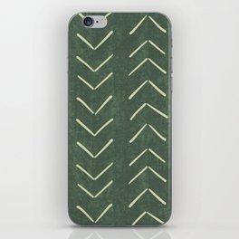 Mudcloth Big Arrows in Leaf Green iPhone Skin