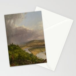 1836 The Oxbow Oil Painting View From Mount Holyoke, Northampton, Massachusetts by Thomas Cole Stationery Cards