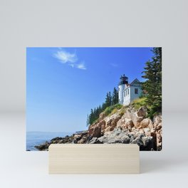 Maine Lighthouse in Color Mini Art Print