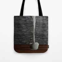 milk Tote Bags featuring Milk by Littlebell