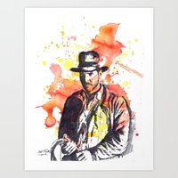 indiana jones Art Prints featuring Indiana Jones by idillard