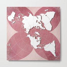 planisphere red mood Metal Print