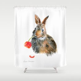 """Trouble"" by Teresa Thompson Shower Curtain"