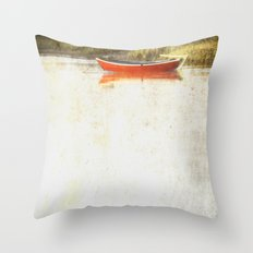 Red metal Throw Pillow
