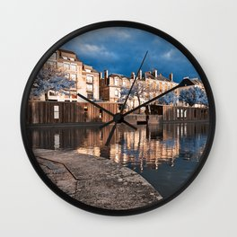 Nantes Riverside Scenery - Winter Blue Fantasy Wall Clock