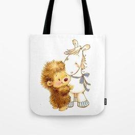 Baby Hedgehog Hedgie Pony Horse Nursery Room Tote Bag