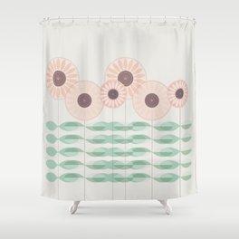 Blushing garden Shower Curtain