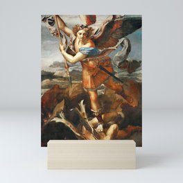Saint Michael and the Devil, Mini Art Print