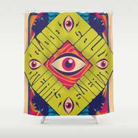 blood Shower Curtains featuring Blood Sweat Tears Soul by Roberlan Borges