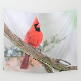 """""""Say What?"""" (Northern Cardinal) Wall Tapestry"""