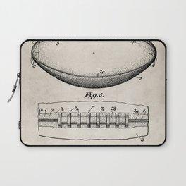 Football Patent - American Football Art - Antique Laptop Sleeve