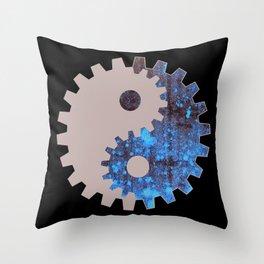 Gear yin yang Throw Pillow