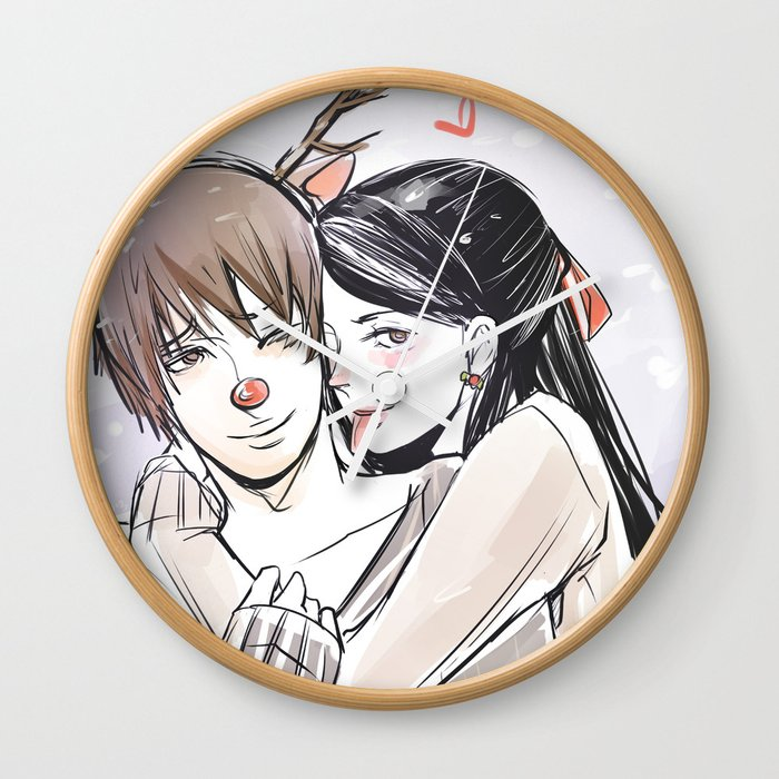 Simon And Isabelle Wall Clock By Aegisdea Society6