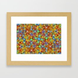 Abstract Watercolour Bubbly Pattern Framed Art Print
