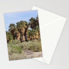 Path Through San Andreas Fault Desert Oasis 2 Coachella Preserve Stationery Cards
