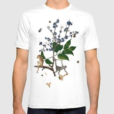 Monkey World: Apy and Vinnie Mens Fitted Tee White MEDIUM