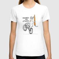 onward T-shirts featuring ONWARD AND UPWARD by Taj Mihelich