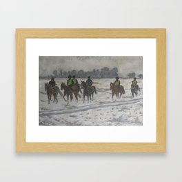 A foggy exercise Framed Art Print