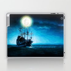 The Flying Dutchman Under The Moon - Painting Style Laptop & iPad Skin