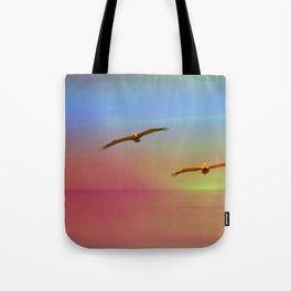 Just You And Me ~ Seagulls Southern California Sunset Tote Bag