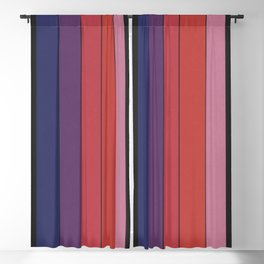 Five Colors and Black Blackout Curtain