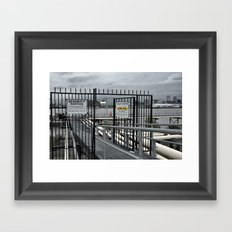 The Open Security Gate Framed Art Print