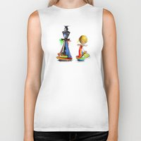 chess Biker Tanks featuring chess by tatiana-teni