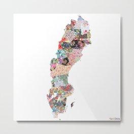 Sweden map Metal Print