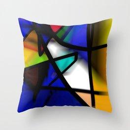 After Midnight abstract art Throw Pillow