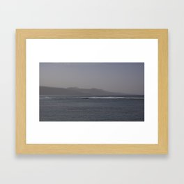 Canarian coast Framed Art Print