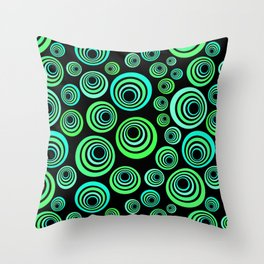 Neon blue and green Throw Pillow