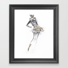 Fashion sketches in pencil Framed Art Print