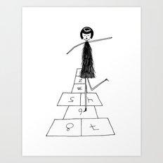 Hopscotch Art Print