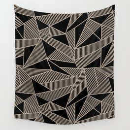 Geometric Abstract Origami Inspired Pattern Wall Tapestry