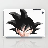 goku iPad Cases featuring Geometric Goku by Something a Little Awesome
