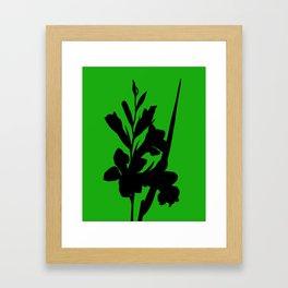 Gladiolus in Cyclamen Pink - Original Floral Botanical Papercut Design Framed Art Print