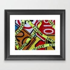 Caution Framed Art Print