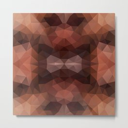 Mozaic design in dark brown colors Metal Print