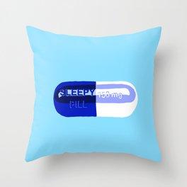 Sleepy Pill Throw Pillow