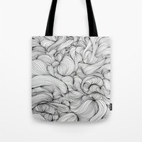 fabric Tote Bags featuring Fabric by DuckyB
