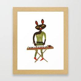 Keyboard Cat Framed Art Print