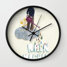 Rain Machine Wall Clock