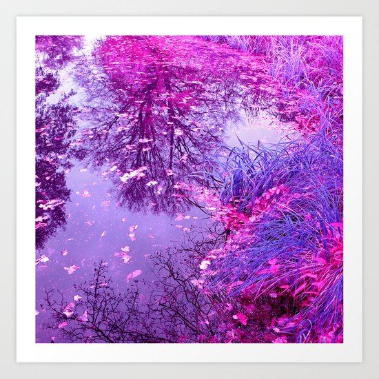 purple garden pond II Art Print
