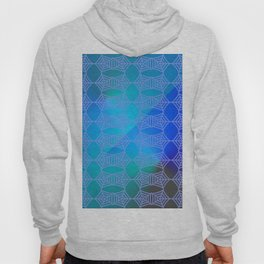 Pattern by spider web blue ... Hoody