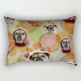 Everything is coming up Buttons Rectangular Pillow