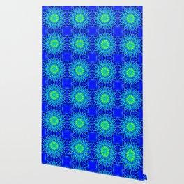 Green & Blue Starburst Series Wallpaper